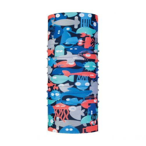 Buff---UV-tube-scarf-for-babies---Coolnet-UV+-Shoal---Blue-/-Coral-