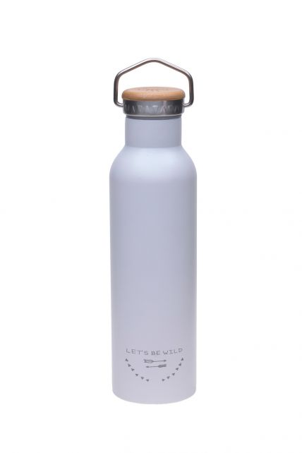 Lässig---Drinking-bottle---Stainless-Steel---Grey