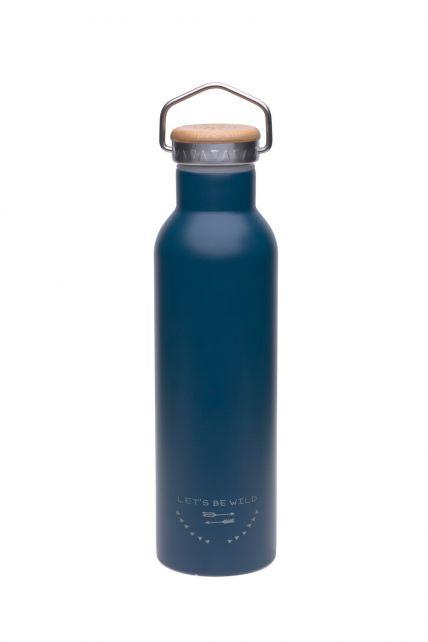 Lässig---Drinking-bottle---Stainless-Steel---Blue