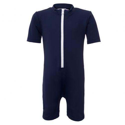 Petit Crabe - UV Swimsuit short sleeves - Star - Navy - Front