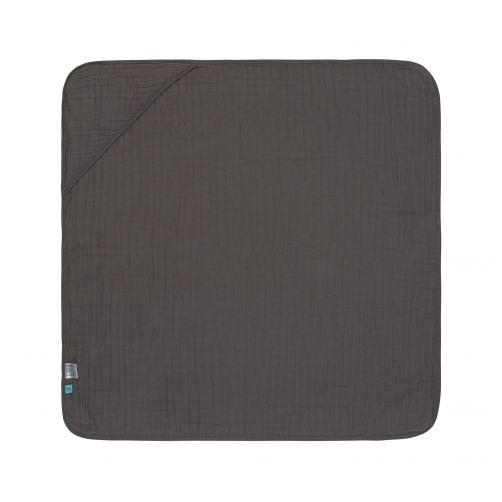 Lässig---Hooded-towel---Muslin---Antracite