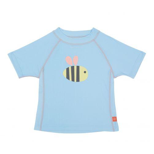 Lässig - UV swim shirt for children - Bumble Bee - Light blue - Front