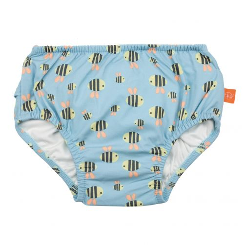 Lässig - Swim diaper baby - Bumble Bee - Light Blue - Front