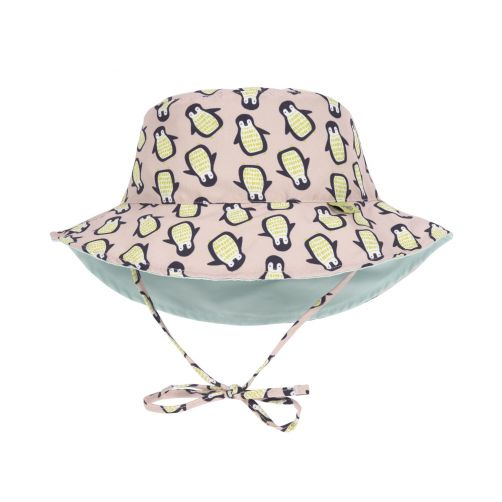 Lässig---Babies'-UV-hat-reversible---Penguin---peach-/-mint