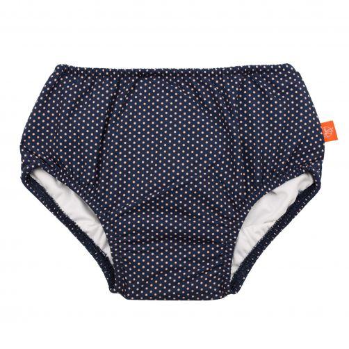 Lässig - Swim diaper baby - Polkadots - Dark Blue / White - Front