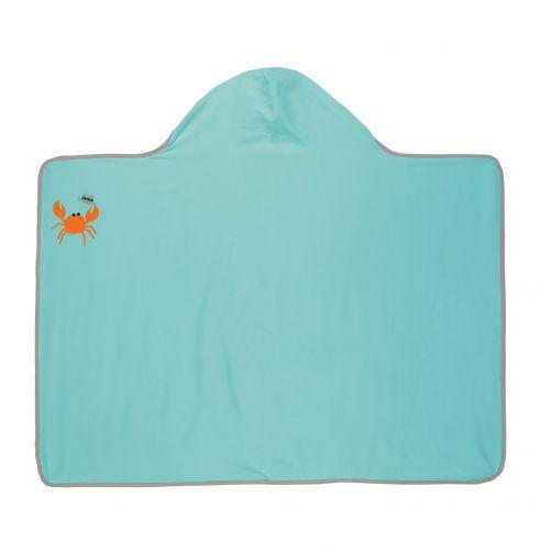 Lässig---Hooded-towel-for-children---Star-Fish---Light-blue
