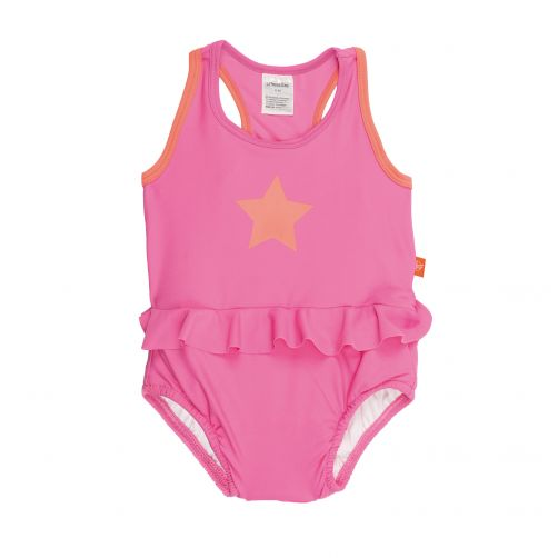 Lässig - Swimsuit with integrated swim diaper - Light pink - Front