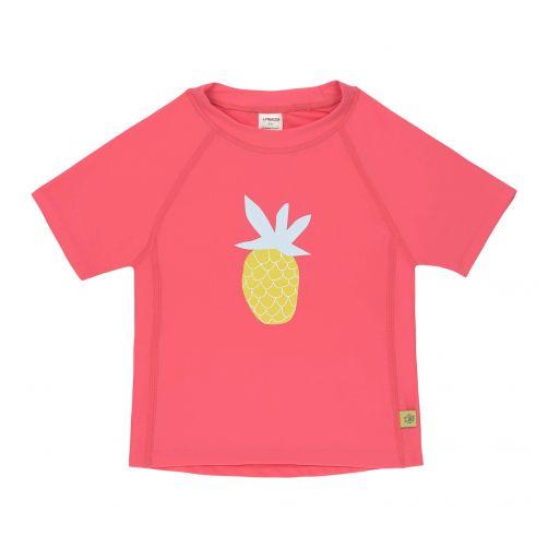 Lässig - Girls' UV swim shirt - short-sleeve - Pineapple - hot pink - Front