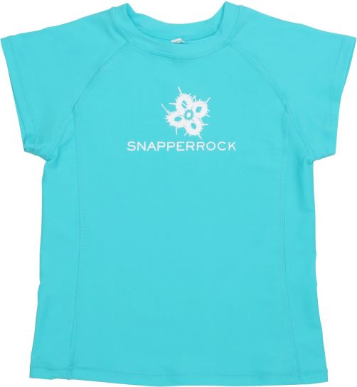 Snapper Rock - UV Shirt Kids Short Sleeve- Aqua Cap Sleeve - 0