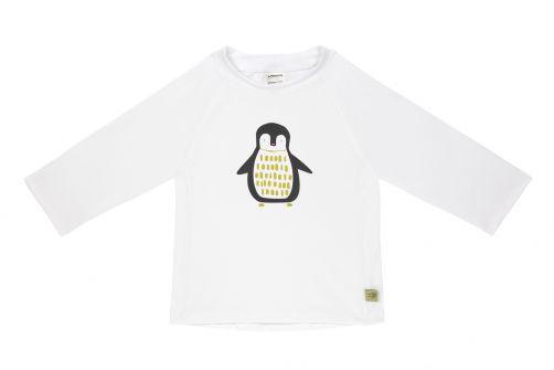Lässig - Kids' UV swim shirt - long-sleeve - Penguin - white - Front