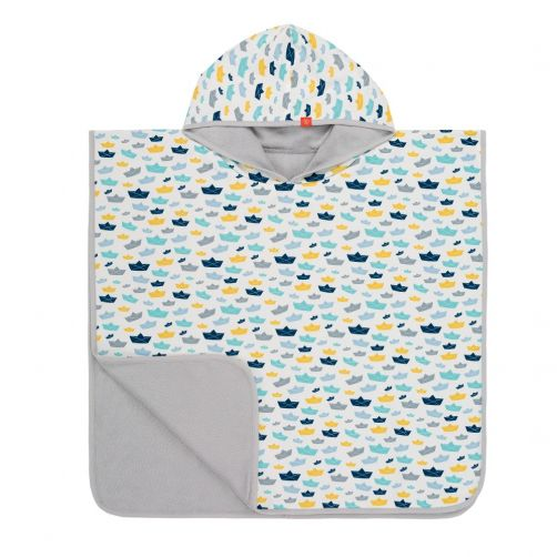 Lässig---Baby-towel-with-hood-for-children---Paper-Boat