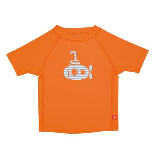 Lässig - UV swim shirt for children - Submarine - Orange - Front