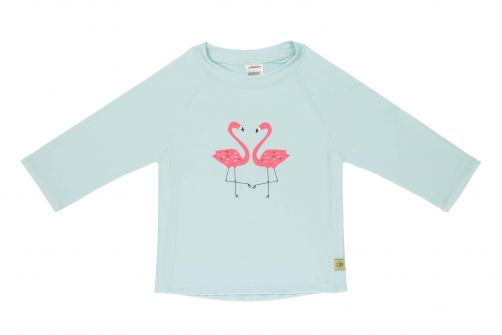 Lässig - Girls' UV swim shirt - long-sleeve - Flamingo - mint - Front