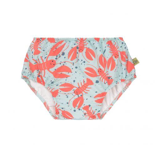 Lässig - Babies' swim diaper - Lobster - light blue / orange - Front