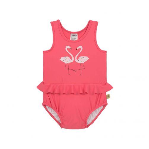 Lässig - Girl's UV bathing suit - Flamingo - hot pink - Front
