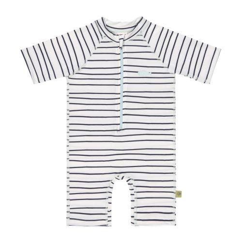 Lässig - Kids' UV swimsuit - short-sleeve - Stripes - Front