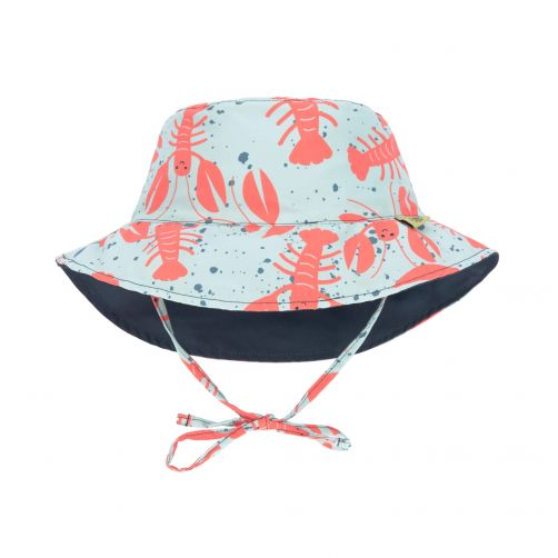 Lässig---Babies'-UV-hat-reversible---Lobster---multicolour