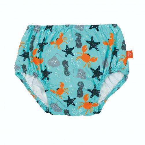 Lässig - Swim diaper baby - Star Fish - Light Blue - Front