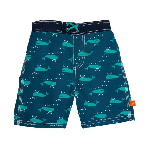 Lässig - Swim shorts for boys - Blue Whale - Blue - Front