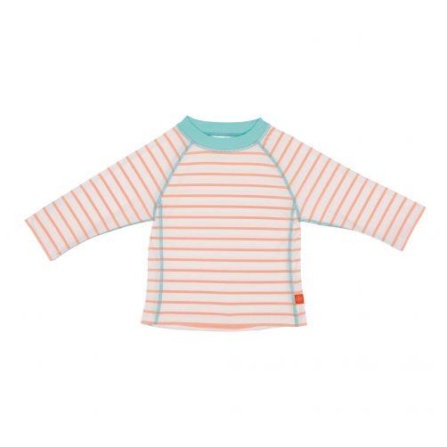 Lässig - UV swim shirt for children - long sleeves - White/Peach/Blue - Front
