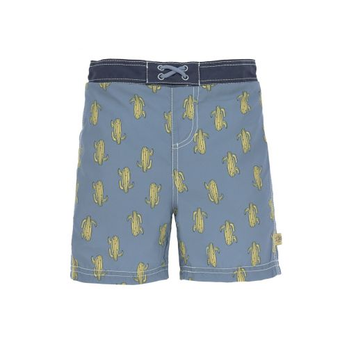 Lässig - Boys' UV swim shorts with nappy - Cactus - blue - Front