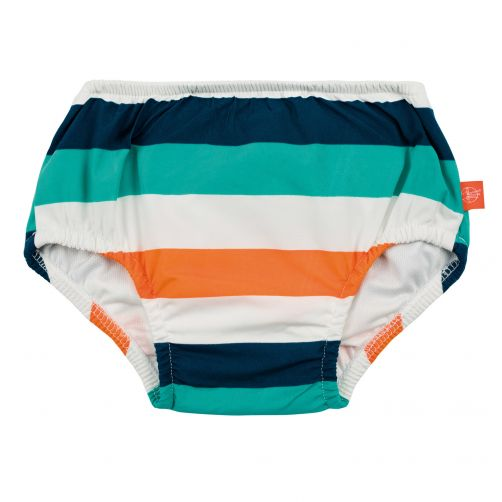 Lässig - Swim diaper baby - Striped - White / Blue / Peach - Front