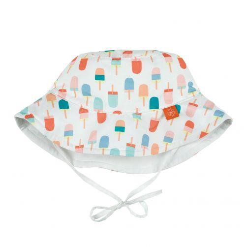 Lässig---UV-sun-hat-for-children-Ice-cream---White-/-Peach-/-Blue