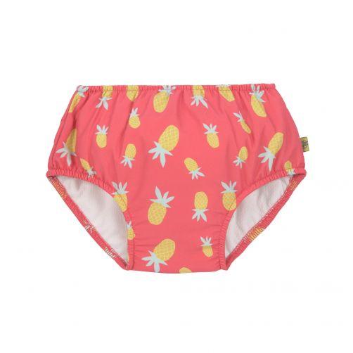 Lässig - Girl's swim diaper - Pineapple - pink / yellow - Front