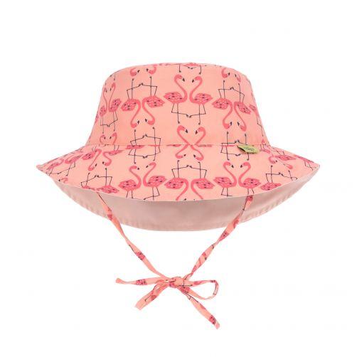 Lässig---Girl's-UV-hat-reversible---Flamingo---peach-/-pink