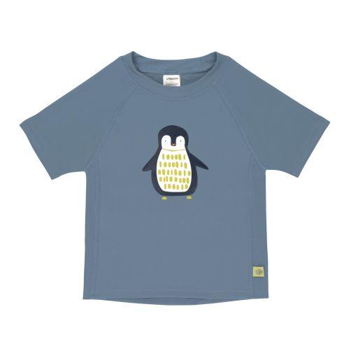 Lässig - Kids' UV swim shirt - short-sleeve - Penguin - blue - Front