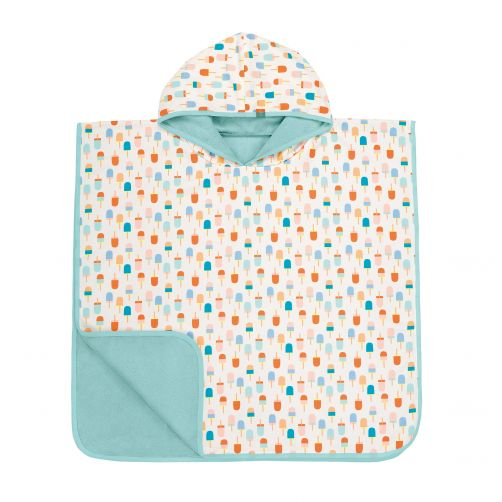 Lässig---Baby-towel-for-children-Ice-cream---White-/-Peach-/-Blue