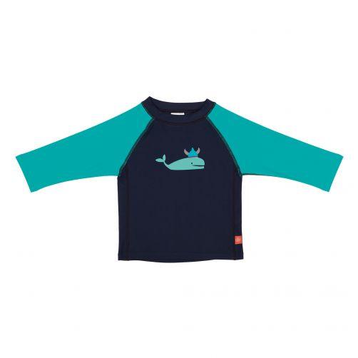 Lässig - UV swim shirt for children - Whale - Dark Blue - Front
