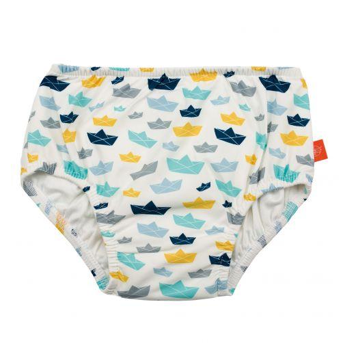 Lässig - Swim diaper baby - White / Blue / Yellow - Front