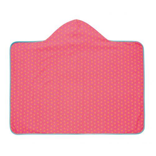 Lässig---Hooded-towel-Star---Pink-/-Peach