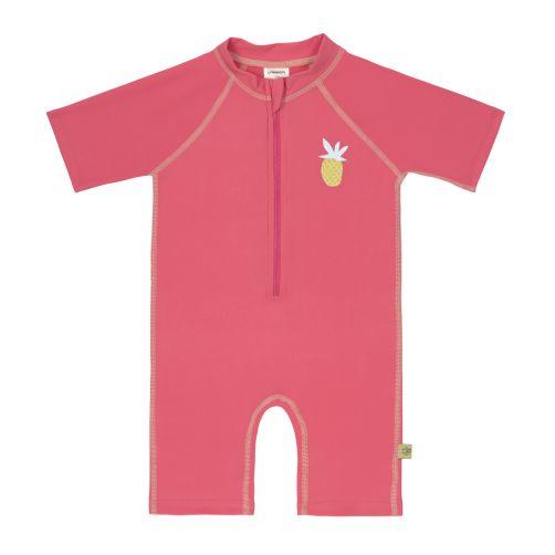 Lässig - Girls' UV swimsuit - short-sleeve - Pineapple - pink - Front