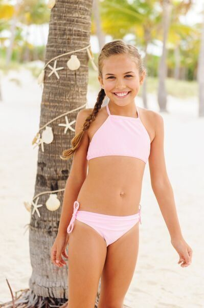 Snapper Rock - Ballet Pink Halter Bikini - 0