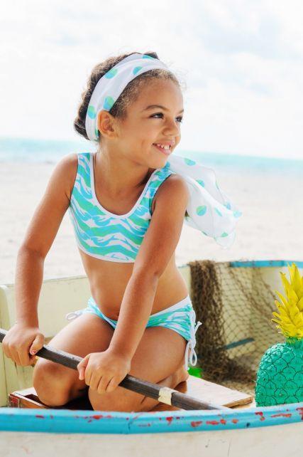 Snapper Rock - UV werende sport set met lange mouwen top - zeemeermin - 0
