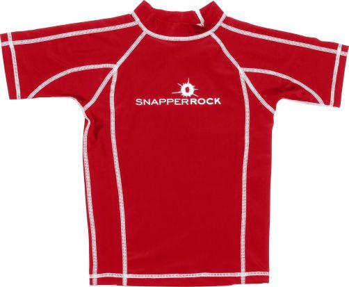 Snapper Rock - SS UV50 Rash top - Solid Red - 0
