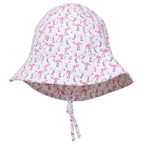 Petit-Crabe---UV-Sun-hat-for-children---Flamingo---White/Pink