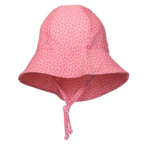 Petit-Crabe---UV-Sun-hat-for-children---Flowers---Pink