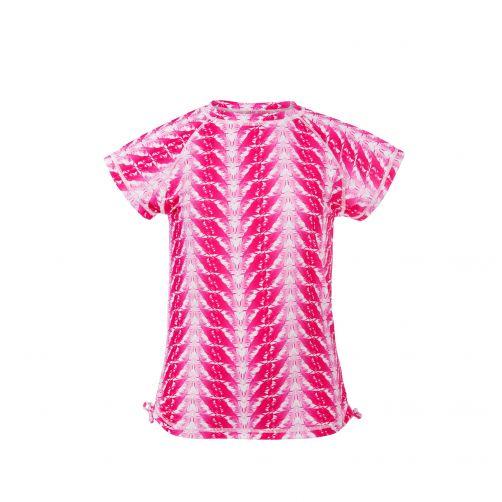 Snapper Rock - UV zwemshirt voor meisjes - Fushia veren - 0