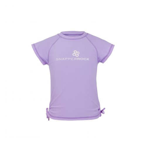 Snapper Rock - Lavender SS Rash Top - 0