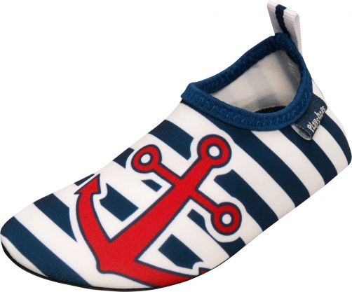 Playshoes - UV swim shoes for children - Maritime - Blue/white/red - Front
