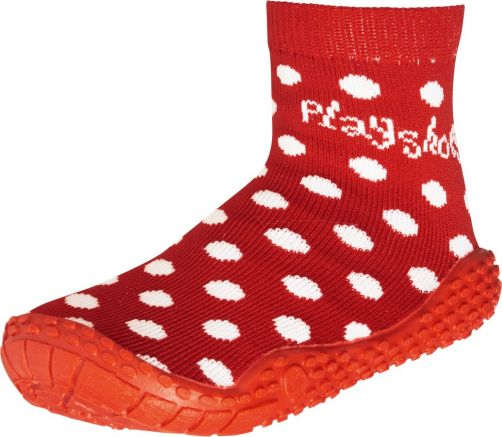 Playshoes - Swim socks for children - Dots - Red - Front
