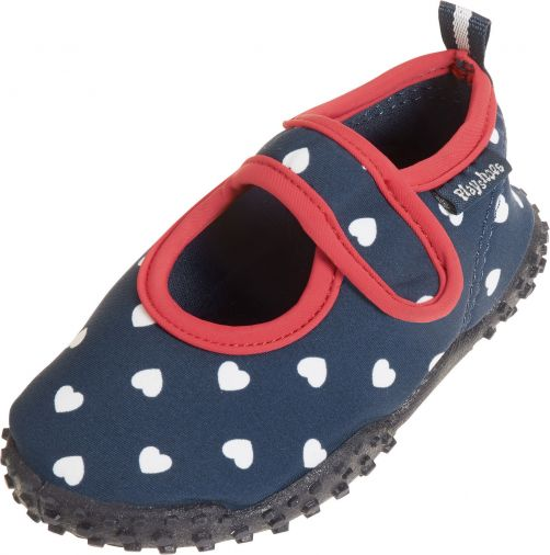 Playshoes - UV water shoes for girls - hearts - dark blue - Front