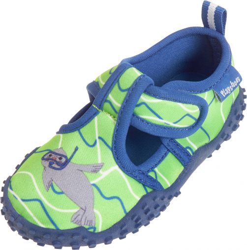 Playshoes - UV water shoes boys and girls - seal - blue/green - Front