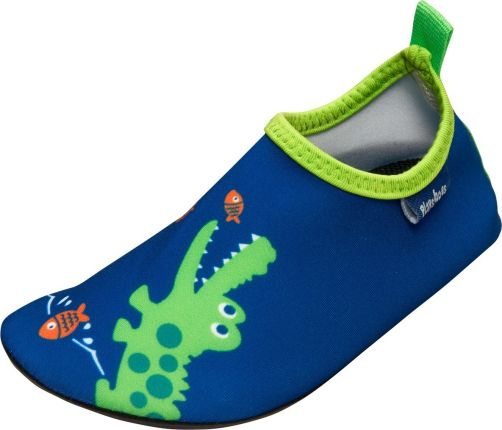 Playshoes - UV swim shoes for boys - Crocodile - Blue / green - Front