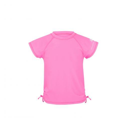 Snapper Rock - Neon Pink SS Rash Top - 0