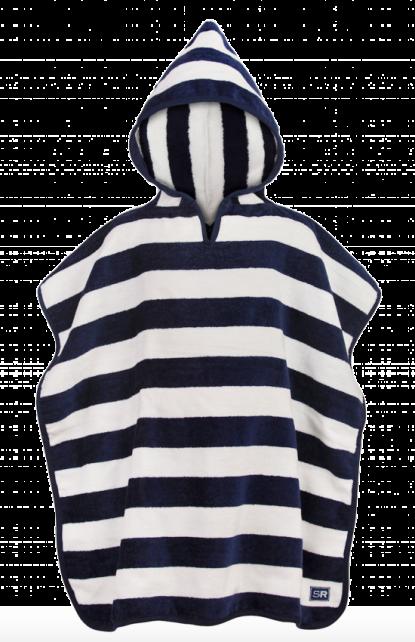 Snapper-Rock---Hooded-baby-towel-blue-stripes
