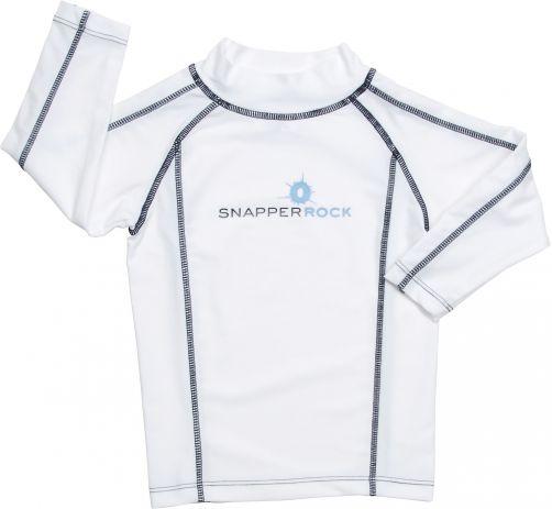 Snapper Rock - UV-beschermend zwemshirt met lange mouwen voor kinderen - wit blauw - 0